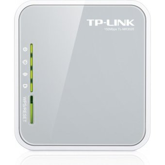 Harga TP-LINK TL-MR3020 Portable 3G/4G USB Modem Share Internet 150Mbps Wireless-N Router (EXPORT)
