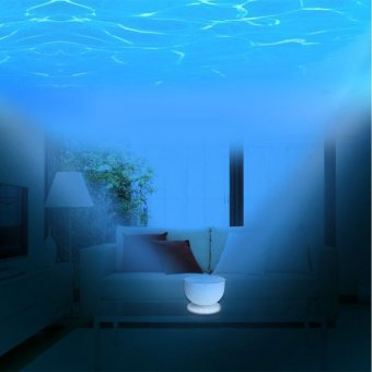 Ocean Waves Projector Lamp Projection 8Modes ,Ocean Lamp Music Projection