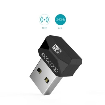 Harga dodocool N150 Mini Wireless-N Wireless Network USB 2.0 Adapter Wi-Fi Dongle 2.4 GHz 150 Mbps Support Windows XP/Vista/7/8/8.1/10/Mac OS X 10.4-10.10 Black - intl