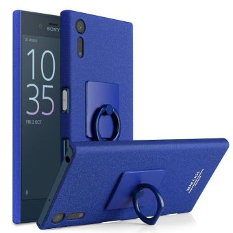 Harga IMAK Matte Hard Phone Case with Ring Kickstand for Sony Xperia XZ - Blue - intl