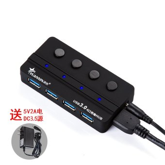 Harga Source Xin usb3/usb3/0hub multi-port independent switch high-speed set line is points line Device