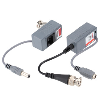 Harga CCTV Camera Video Balun Transceiver BNC UTP RJ45 Video and Power over CAT5/5E/6 Cable