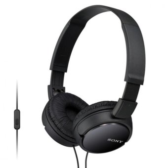 Harga Sony Singapore MDR-ZX110AP On-ear Headphone with Mic (Black)
