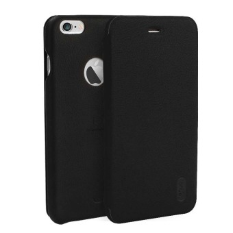 Harga LENUO Ultra Thin Flip Cover for Apple iPhone 6 / 6s (Black)