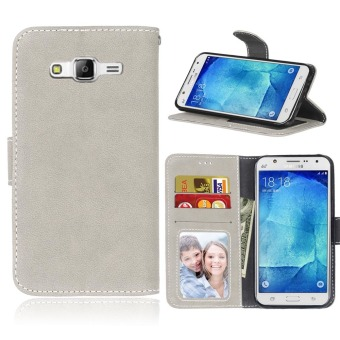 Harga Ueokeird Protective Stand Wallet Purse Credit Card ID Holders Magnetic Flip Folio TPU Soft Bumper Leather Case Cover for Samsung Galaxy J5 J500 - intl