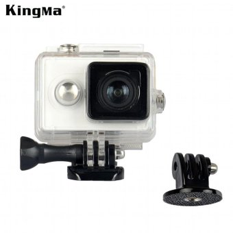 Harga KingMa Original Xiaomi Yi Camera Waterproof Case, Mi Yi 40M Diving Sports Waterproof Box, Yi Action Camera aksesoris Accessories - intl