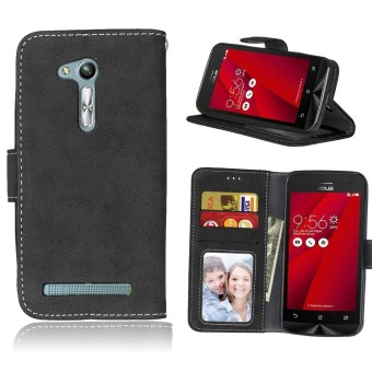 Harga Ueokeird Protective Stand Wallet Purse Credit Card ID Holders Magnetic Flip Folio TPU Soft Bumper Leather Case Cover for Asus ZenFone Go ZB452KG 4.5inch - intl