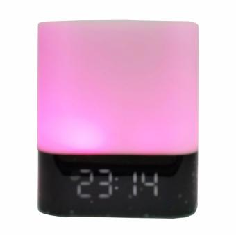 Harga Bluetooth Portable Speaker Musky DY-28 plus Touch Sense, Colourful LED Flash Lamp, Alarm Clock, Answer Call, Stereo Sound, Support TF Card Music Play (PINK LED LIGHT) – Int'l