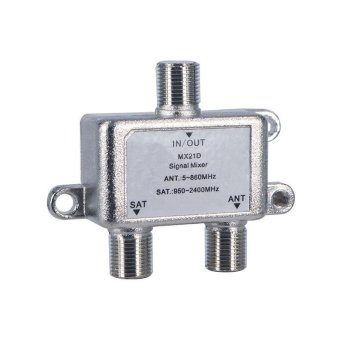 Harga High Quality 2 In 1 Dual-use 2 Way Diplexer TV Signal Mixer Satellite Sat Coaxial Combiner Cable Splitter Switch Switcher - intl