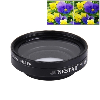 JUNESTAR For Xiaomi Xiaoyi Yi II 4K Sport Action Camera Proffesional 37mm UV Filter + Lens Protective Cap