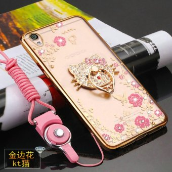 Secret Garden Diamond TPU Back Cover Protection Case For Oppo F1 Plus / Oppo R9 (KT Cat Gold) - intl