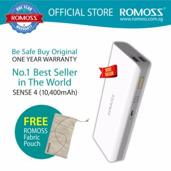 Harga Romoss Sense 4 (10,400mAh) Lithium Ion Power Bank