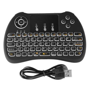Harga H9 Keyboard Wireless Touchpad Air Mouse Backlight Remote for KODI TV Box - intl