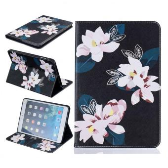 Harga Painting PU Leather Back Case Cover for Apple iPad mini 1/2/3(black lily) - intl