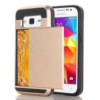 Harga Ueokeird Wallet Case Card Pocket Dual Layer Hybrid Rubber Bumper Protective Card Case Cover for Samsung Galaxy A7 2016 A910F - intl