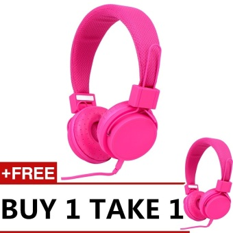 Harga Style Clique EX09i Best Stereo Over-the-Head Headphone (Pink) BUY 1 TAKE 1