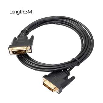 Harga GOOD Universal 3M DVI D To DVI-D Gold Male 24+1 Pin Dual Link TV Cable - intl