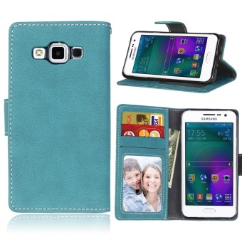 Harga Ueokeird Protective Stand Wallet Purse Credit Card ID Holders Magnetic Flip Folio TPU Soft Bumper Leather Case Cover for Samsung Galaxy A3 2015 A300 - intl