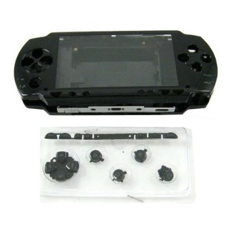 Harga Black Full Housing Repair Mod Case + Buttons Replacement for Sony PSP 1000 Console(Export)(Intl)