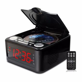 German Design Muti-Functional Portable CD Player Stereo Speakers Alarm Clock USB Prenatal Music Clocked CD Drive Mp3 Player with FM Radio - intl