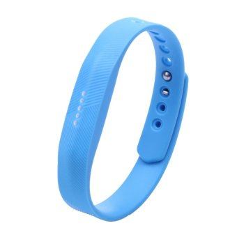 Harga Silicone Wrist Band Strap For Fitbit Flex 2 Smart Watch (Sky Blue) - intl