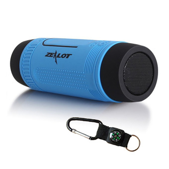 Harga ZEALOT S1 Outdoor Waterproof Bluetooth 4.0 Speaker - Blue