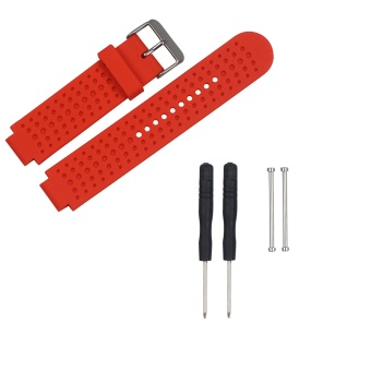 Harga Replacement Silicone Watch Band Strap for Garmin Forerunner 220 230 235 630 620 735 Watch With Pins & Tools in Red
