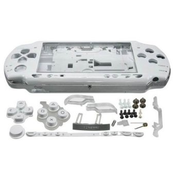 Harga White Full Housing Shell Faceplate Case Parts Replacement for Sony PSP 2000 Console(Export)(Intl)