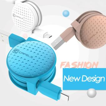 Retractable Usb Type C Cable Nylon Fast Charging Macarons Type-C Data Sync Charger Cable - intl