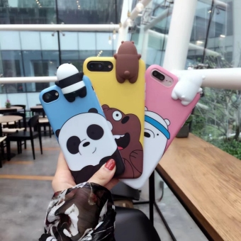 Harga Iphone7 7plus let's get bare bear Apple mobile phone shell