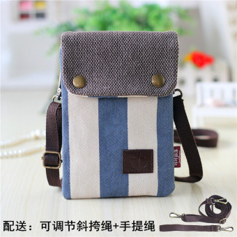 Ka minimalist canvas verticle shoulder phone bag