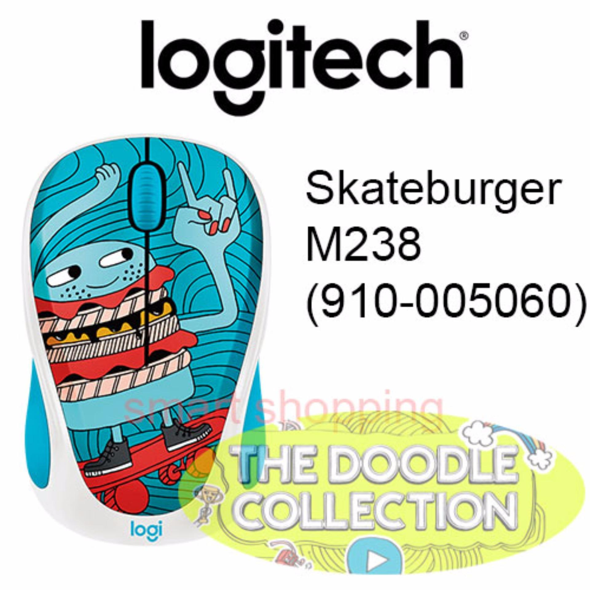 Logitech Wireless Mouse Doodle Collection M238 Skateburger Daftar Party L070 Skate Burger Pn 910 005060 Singapore