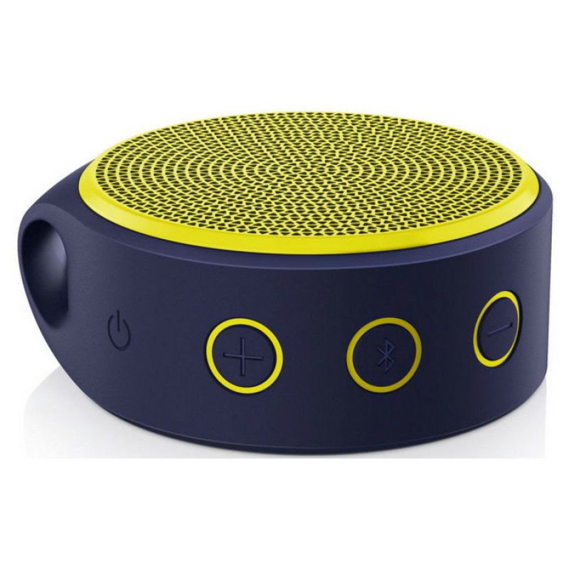 Logitech X100 Wireless Bluetooth Speaker Purple Housing with Yellow Grill Singapore