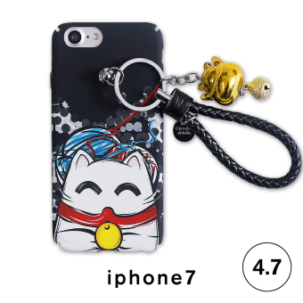 Lucky iphone6s/6plus with lanyard ring protective shell mobile phone shell