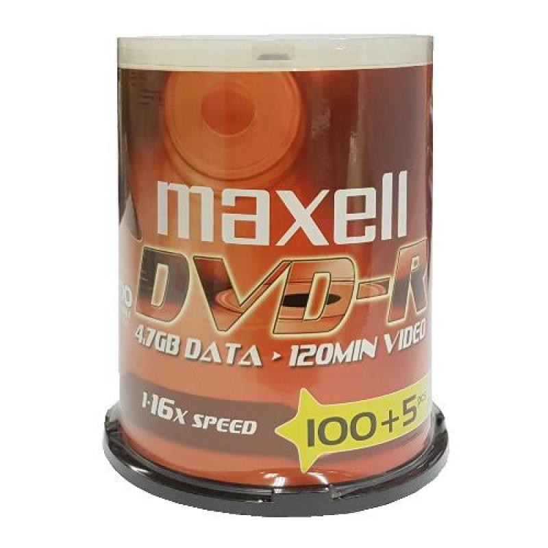 Maxell DVD-R 100+5 Discs in 1 Spindle (Promo Pack)