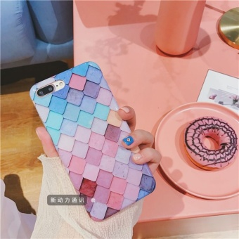 Mermaid iphone7 plus scales pattern color mobile phone shell