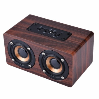 misodiko Portable Bluetooth Wooden Speaker with Microphone - intl - 2