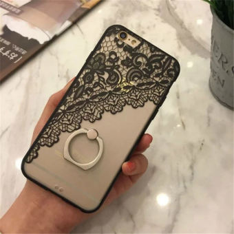 Mobile Phone Ring Lace Cover Case For Applefor Iphone 6s Plus Black
