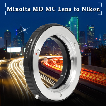 Mount Adapter For Minolta MD MC Lens to Nikon AI F Camera WithoutGalss