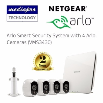Netgear VMS3430 Arlo Smart Security System with 4 Arlo Cameras