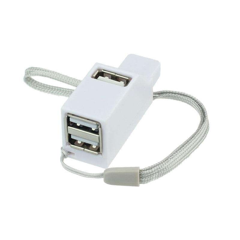 New 3 Port Mini High Speed USB 2.0 HUB Adapter For Notebook PC Smartphone WH - intl