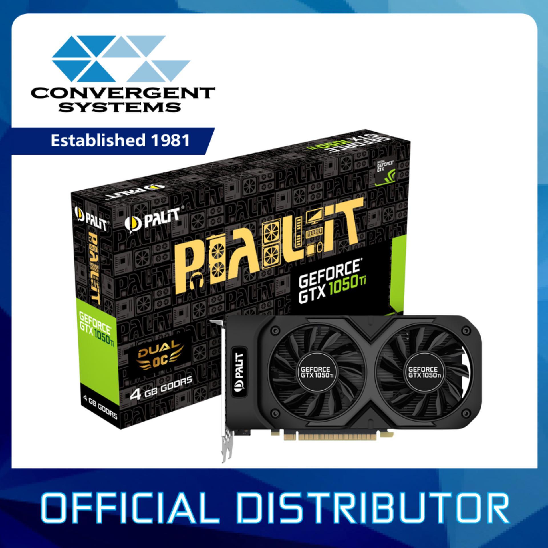 Palit Geforce Gtx 1050 Ti Dual Oc 4gb Gddr5 Graphics Card Singapore Msi Ddr5