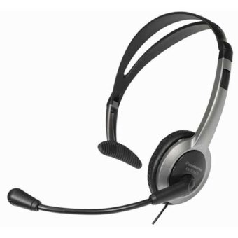 Panasonic KX-TCA430 Black/Gray Over The Head Headset With Volume Control