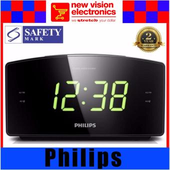 Philips AJ3400 Radio Clock . 2 Years International Warranty.
