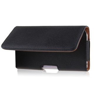 PU Leather Pouch Waist Bag Belt-Clip Horizontal for IPhone 6/6 Plus(Black)
