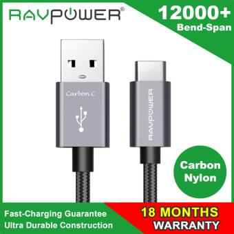 RAVPower Type C Cable USB C to USB A 6ft Braided Cable for USB Type-C Devices