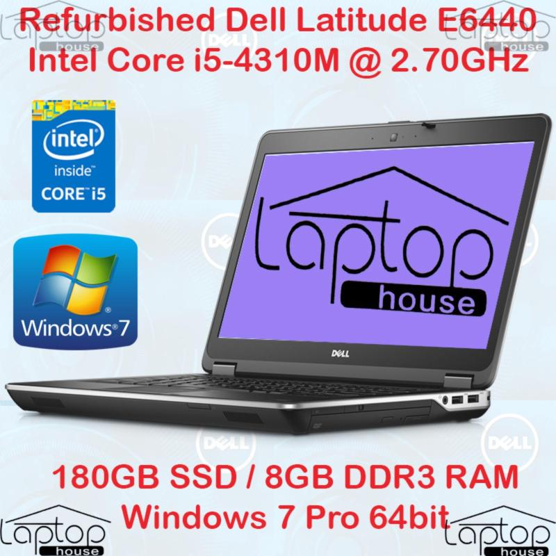 (REFURBISHED) Dell Latitude E6440(Intel Core i5-4th Gen/ 180GB SSD/ 8GB RAM)