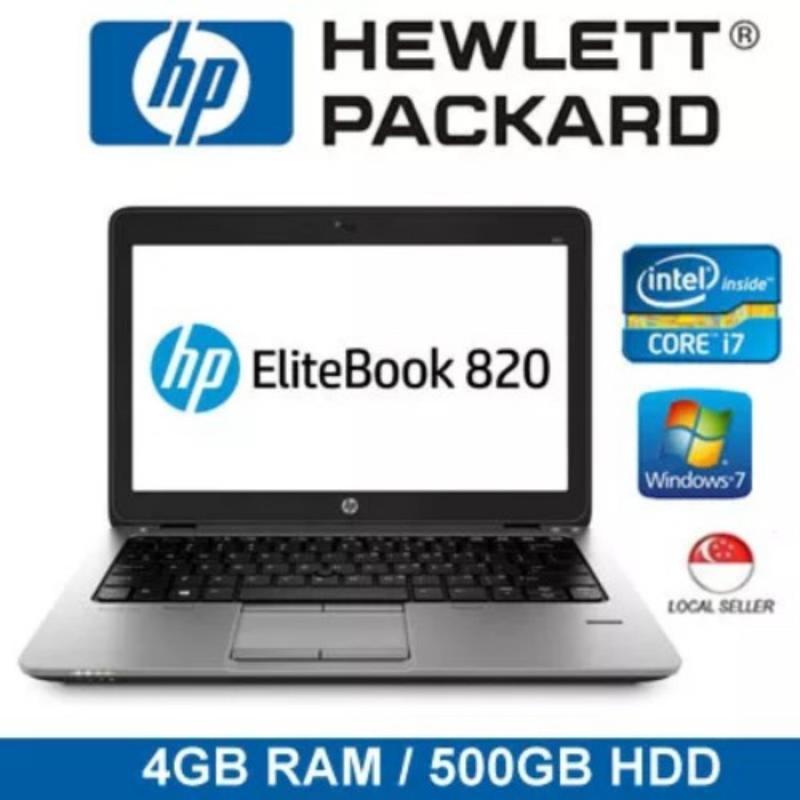 [Refurbished] HP EliteBook 820 12.5 Intel Core i7-5600 4GB RAM 500GB HDD Windows 7 Notebook Laptop (Black)