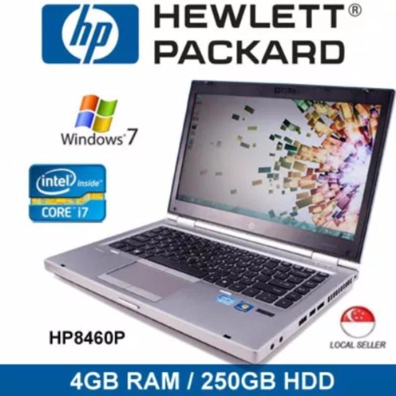 [Refurbished] HP Elitebook 8460p 14 Intel i7 Core 4GB RAM 250GB HDD Windows 7 Laptop (Silver)
