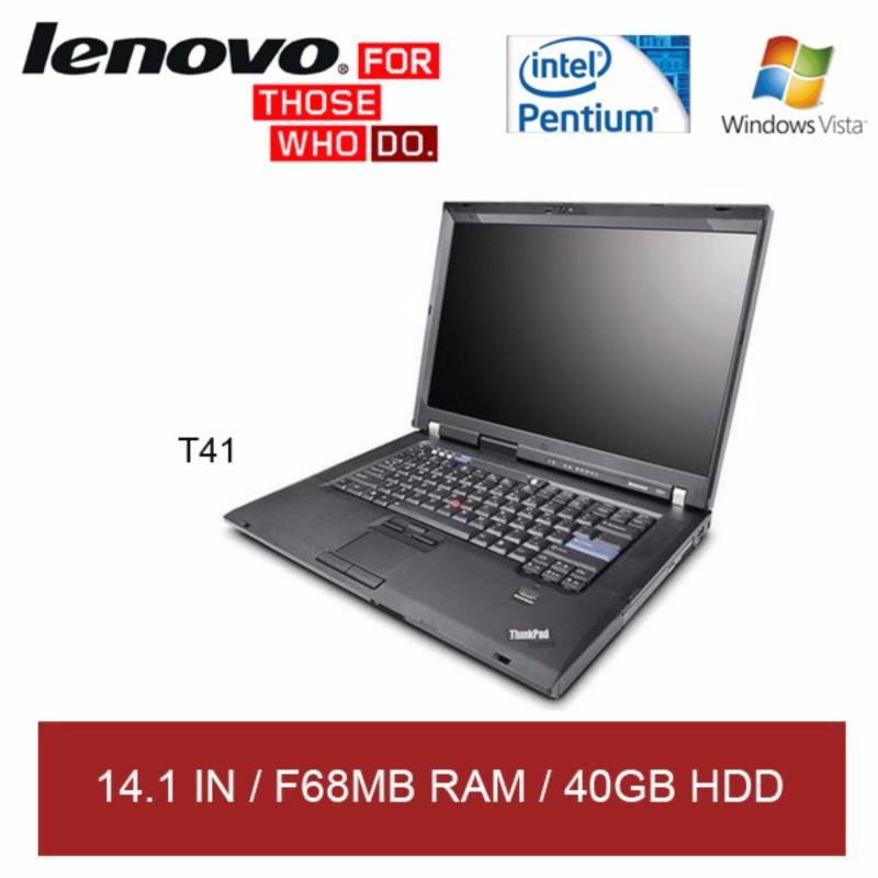 Refurbished Lenovo T41 Laptop / 14.1in / Pentium M / F68MB RAM / 40GB HDD / Window Vista / 1mth Warranty